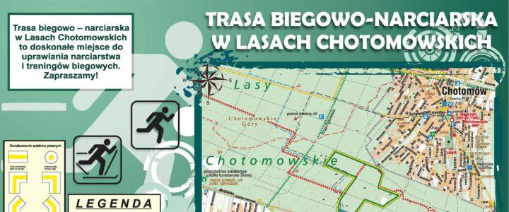 Trasa biegowo-narciarska w Lasach Chotomowskich